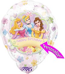 Disney Princess Personalized 18in Balloon - 1