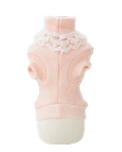 pet cappotto caldo maglione morbido accogliente cotone principessa nodo a farfalla cane Knit 5 taglie , red , xl