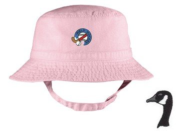 Embroidered Infant Bucket Cap with the image of: canada goose