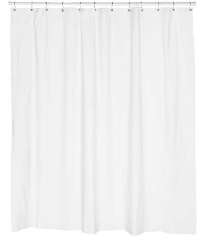 Carnation Home Fashions 10 Gauge Anti Mildew Shower Curtain Liner White