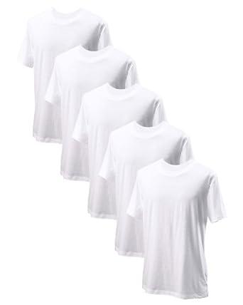 Alo Mens Dri-Blend Short Sleeve T-Shirt, White ( 5 Packs ) by alo Sport