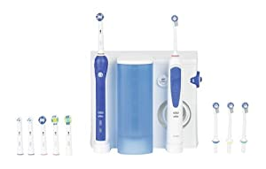 Oral-B Professional Care OxyJet +3000 - Pack dental: cepillo de dientes eléctrico recargable e irrigador bucal
