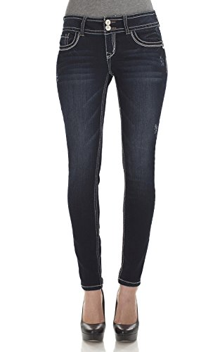 WallFlower Juniors Luscious Curvy Classic Skinny Jeans in Freshman Tint in Freshman Tint Size: 1 (Junior Jeans Size 1 compare prices)
