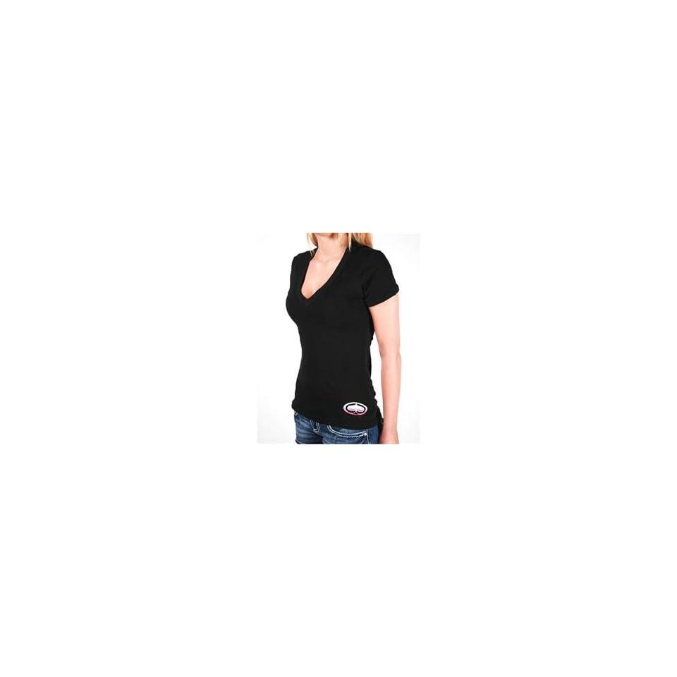 SRH Womens Big Bang V Neck T Shirt   Small/Black