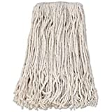 Boardwalk BWKCM02024S Banded Cotton Mop Heads #24 12 Count, White
