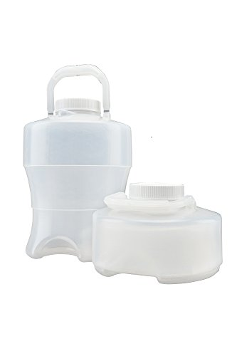 Flex Collect 201603 Collapsible Lpde (Low Density Polyethylene) Container With Handle, White Screw Cap, 3500 Ml Capacity, Natural (Pack Of 12) front-682406