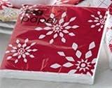 TAG Alpine Snowflake Red and White Beverage Napkins