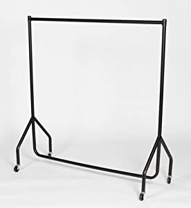 heavy duty clothes rail garment rail 6ft long x 5ft high. Black Bedroom Furniture Sets. Home Design Ideas
