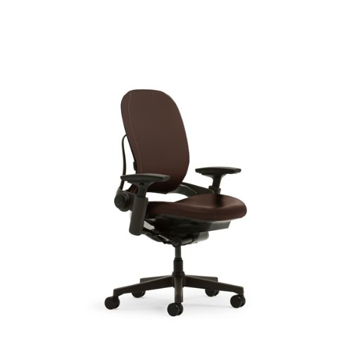 Steelcase Leap Plus Leather Chair, Mahogany