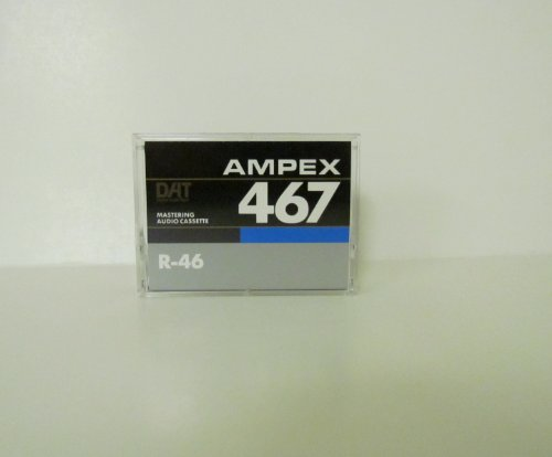 AMPEX 467 R-46 Professional Mastering DAT Tape in a 4 Lot (4 Tapes)