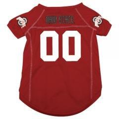 Ohio State Buckeyes NCAA Mesh Pet Football Jersey - Sizes S, M, L - Sports Fan Pet... by NCAA