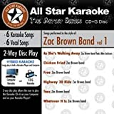 All Star Karaoke Artist Series- Zac Brown Band Vol. 1