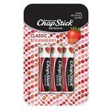 ChapStick Classic Lip Balm, Triple Pack, SPF 4, Strawberry, .15 oz