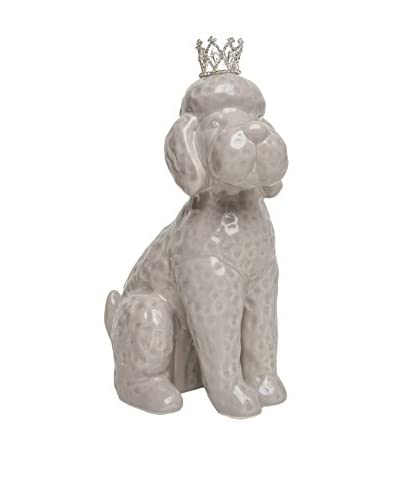 Interior Illusions Poodle with Crown Bank, Grey