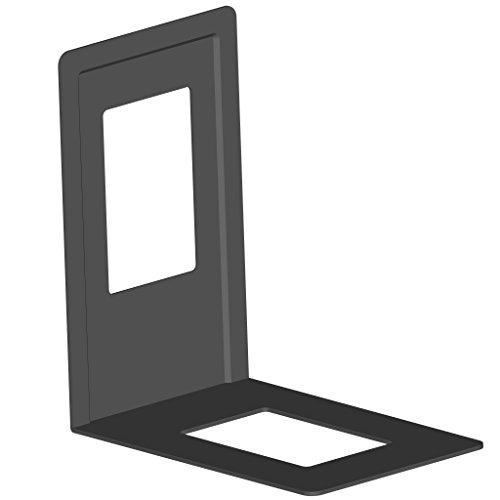 Element 10803-00001 - Set da 4 reggilibri in metallo, 120 x 130 mm, colore nero