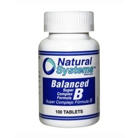 Natural Systems Balanced Vitamin B Complex 100 Tablets Energy Stress