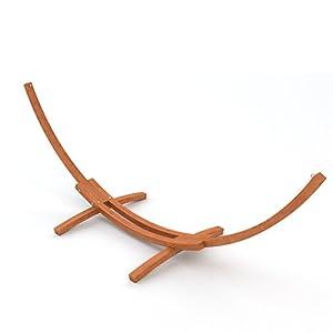 Grand support de Hamac noble en bois, Madagaskar, 400 cm, brun * incluant kit de fixation, sans hamac