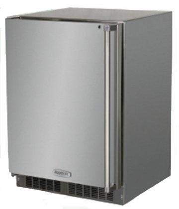 AGA Marvel MO24RAS1LS Outdoor Refrigerator with Lock, Left Hinge Stainless Steel Door, 24-Inch (Refrigerator Door Ajar Alarm compare prices)