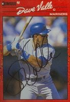 Dave Valle Seattle Mariners 1990 Donruss ááAutographed Hand Signed... by Hall+of+Fame+Memorabilia