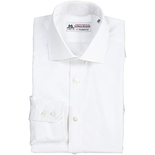 (フェアファクス)FAIRFAX ブロードセミワイドカラーシャツ 3500  ホワイト 42