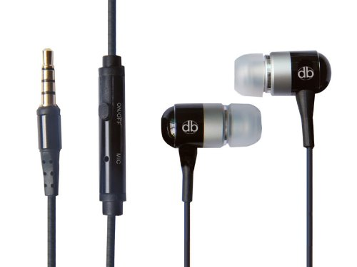 DBSound Black High Fidelity Noise Cancelling Stereo Headset with Microphone and On/off button for Samsung Caliber R850, Code SCH-i220 - Includes Zippered Case + 3 sizes Ear Buds