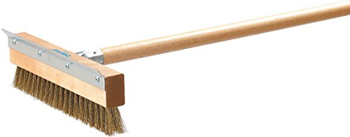 Carlisle (4029300) Pizza Oven Brush with Scraper - Head Only, (10-Inch, Brass/Hardwood) (Oven Brush And Scraper compare prices)