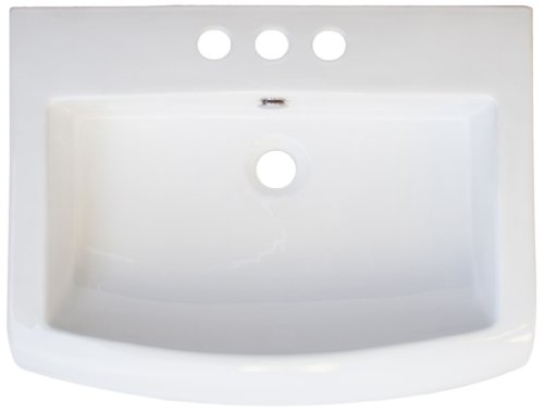 American Imaginations 418 23-Inch by 18-Inch White Ceramic Top with 8-Inch Centers