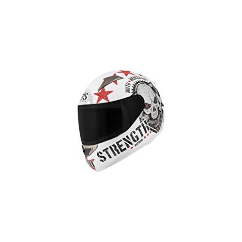 Speed & Strength SS1100 Moto Mercenary Full Face Motorcycle Helmet - White