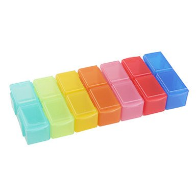Xiong Plastic Storage Box For Pills And Small Tools (Rainbow Color)