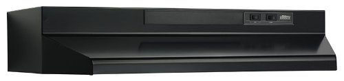 Broan 433623 Under Cabinet 36-Inch Range Hood, Black Steel