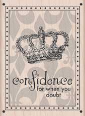 Confidence Card Wood Mounted Rubber Stamp (H5111)