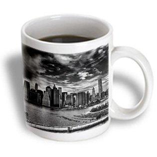 Mug_98356_1 Roni Chastain Nyc - Nyc, Black-White, East River, Skyline - Mugs - 11Oz Mug