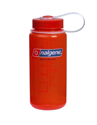 Nalgene Wide Mouth Water Bottle, 1-Pint, Safety Orange front-631508