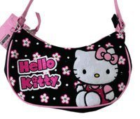 Sanrio Hello Kitty Hobo Bag - Kitty Purse - Black
