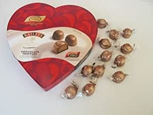 Christmas Chocolate Heart Shaped Box of Baileys Chocolate Truffles