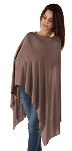 BambooMama Bamboo Breastfeeding Scarf - Coffee - Discreet Nursing Cover and Scarf in One