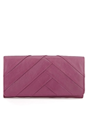 M&S Collection Leather Pleated Large Purse