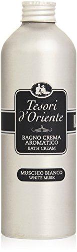 Tesori D'Oriente - Bagno Crema, Aromatica al profume di Muschio Bianco , 500 ml