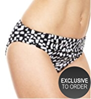 M&S Collection Brushstroke Hipster Bikini Bottoms