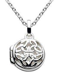 Kit Heath Sterling Silver Open Celtic Trinity Knot Locket Necklace