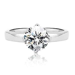 FL Acier inoxydable meilleur anneau de mariage pour les femmes ...