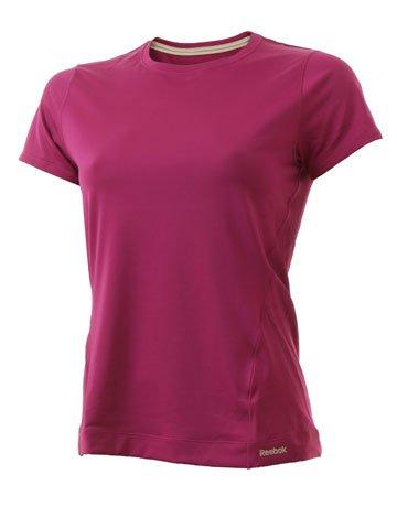 Reebok Women's Crew T-Shirt - Pink, Medium
