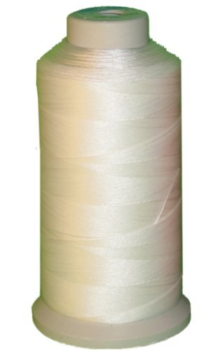 Best Review Of Bonded Nylon Sewing Thread 1500 Yard Size #69 T70 Color White for Outdoor, Leather, B...
