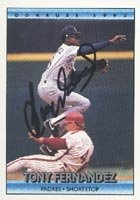 Tony Fernandez San Diego Padres 1992 Donruss Autographed Hand Signed Trading Card. by Hall+of+Fame+Memorabilia