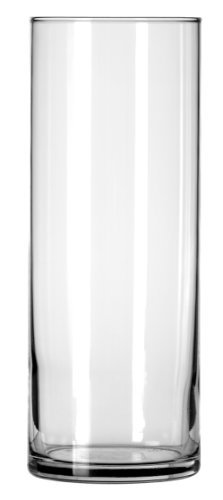 Libbey Cylinder Vase, 9-Inch, Clear, Set of 12
