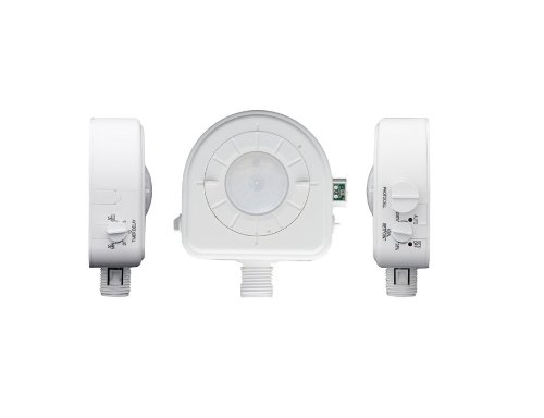 Leviton OSFHP-ILW Cold Storage, CEC Title 24 Compliant, Interchangeable Adjustable Lenses, LED, 24VAC, Passive Infrared Occupancy Sensor, White