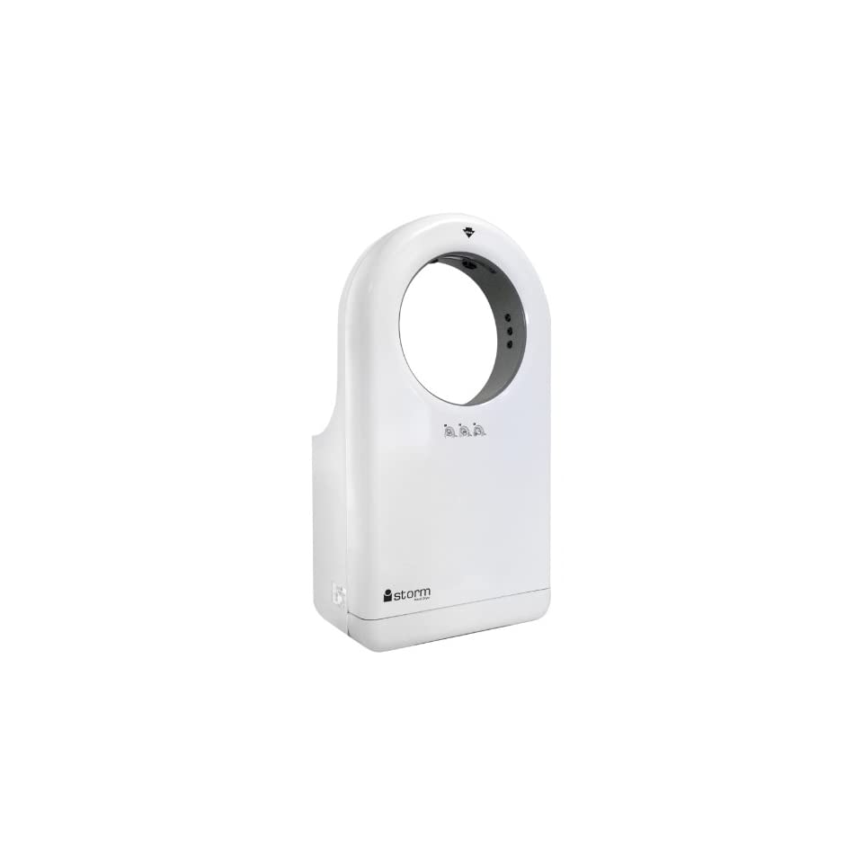 Commercial Touch Less Hand Dryer Replaces Towel Dispenser White Istorm 110v Bathroom Hand Dryers