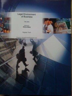 Legal Environment of Business FIN 3055 Virginia Tech