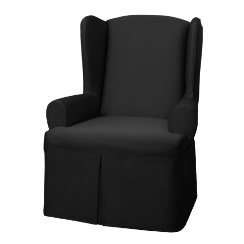 $ Review Best Maytex Twill Wing Chair Cover Black