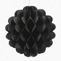 """Black 8"""" tissue balls (1 Dozen) - bulk"""